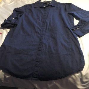 Paradise bay shirt-Dress. Blue. 3/4 sleeves. Small